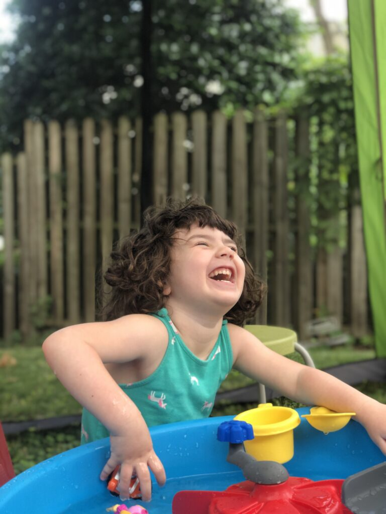 Pic of my kid laughing